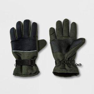 Olive/Black Ski Gloves